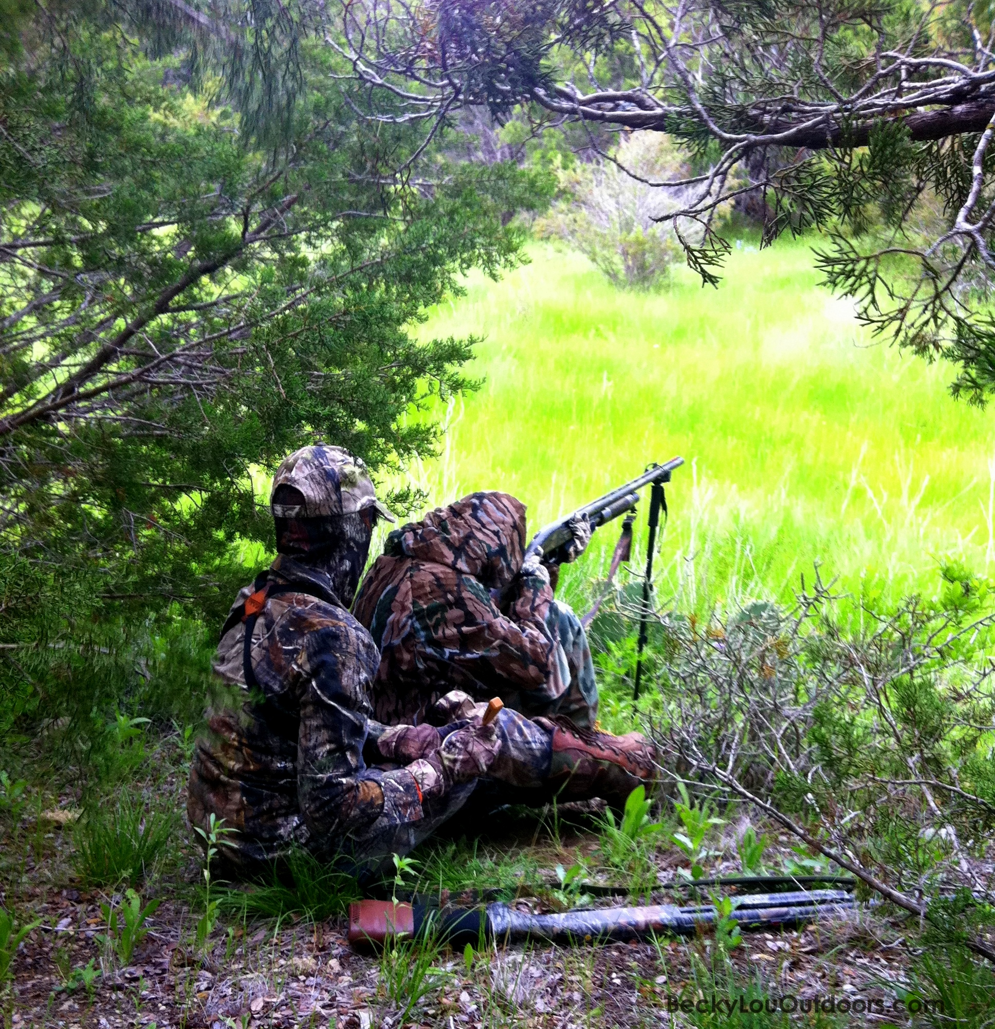 Calling in a Gobbler for my Grandson Keaton Spring 2012
