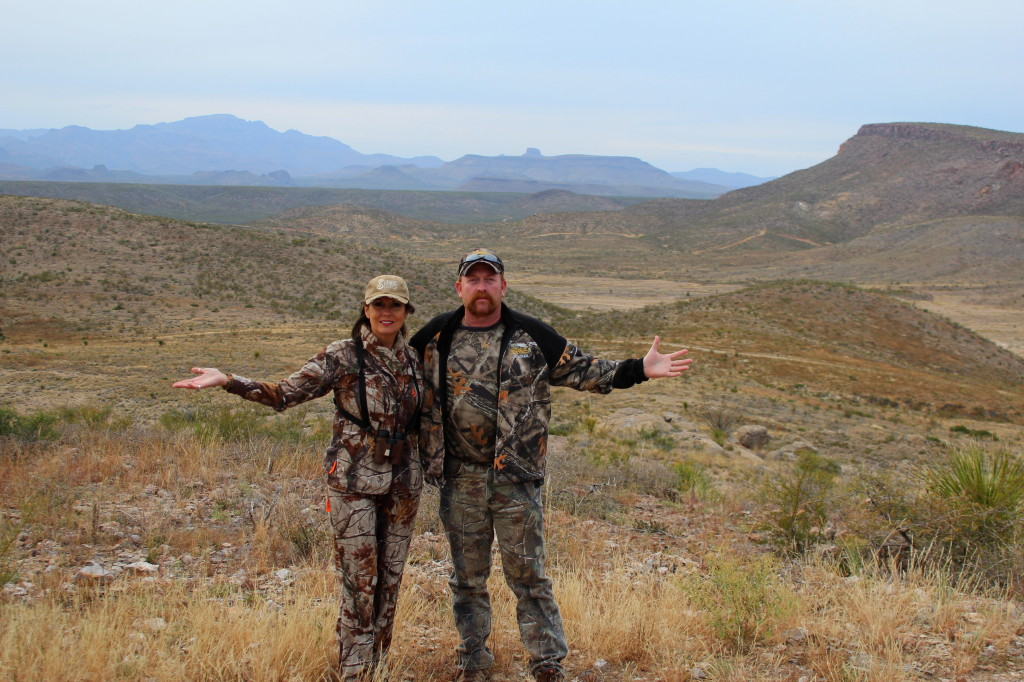 Kenneth and I present Just a small bit of the beautiful scenery that we had for the entire hunt @ Cibolo Creek Ranch. You don't have to go hunting to enjoy this magical place on earth, they have Hummer tours, ATV tours, and many ways to experience it all!
