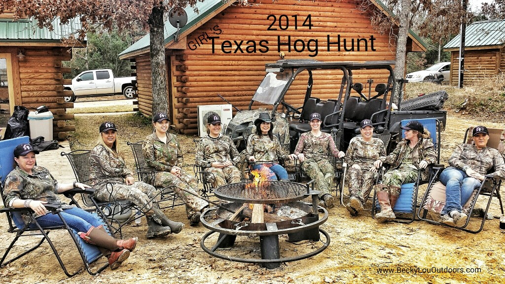 "Girls' Hunt Out for a Hog Hunt in Texas with women Bringing Home the Bacon"" Hanging round the campfire having lunch in between hunts. There is nothing like having a group of girls together outdoors!"