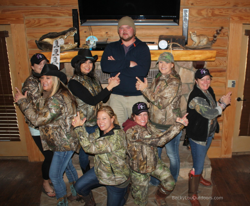 Aaron's Angels! Having fun with the Ranch Manager Aaron Holley after a fun filled weekend Hunting Hogs!