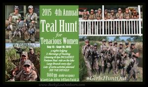 4th Annual Terrific Teal Hunt for Tenacious Women! @ Women's Hunt Teal Hunting and Cajun Cuisine!   Lake Arthur   Louisiana   United States