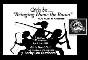 "Girls be ""Bringing Home the Bacon"" @ Hog Hunting in Arkansas 