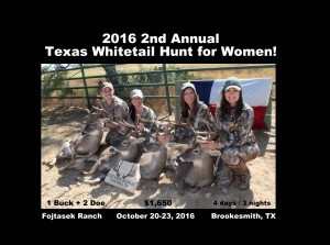 2nd Annual Texas Whitetail Hunt for Women
