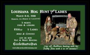 Louisiana Hog Hunt for the Ladies