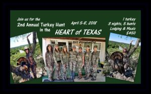 "Turkey Hunt in the ""Heart of Texas"" @ Turkey Hunt 